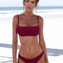 Angelsin Bordo Bikini Takım