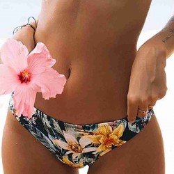 Angelsin Çiçekli Bikini Alt Çok Renkli