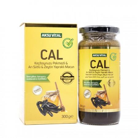 CAL Keçiboynuzu Pekmezli Arı Sütlü Zeytin Yapraklı Macun 300 gr