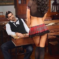 Merry See Erotik Liseli Kız Kostümü