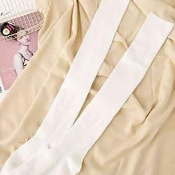 Merry See Parfümlü Örgü Diz Üstü Çorap Beyaz