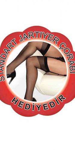 Merry See Jartiyerli Fantazi Hemşire Kostümü+ ÇORAP HEDİYELİ